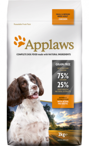 Applaws Dog Adult Small & Medium Breed with Chicken - Dry Grain Free 2 Kg