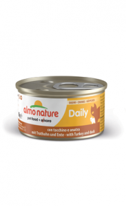 Almo Nature Cat Daily Diced with Turkey and Duck | Wet (Lata) 6 X 85 g